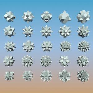 geometric shape pack 3d model