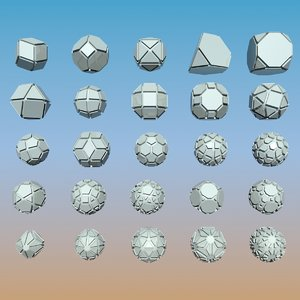 geometric shape pack 3d model