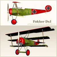 Airplane FOKKER DR1
