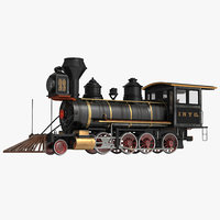 steam train locomotive 3 3d max