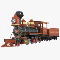 3ds steam train wagon
