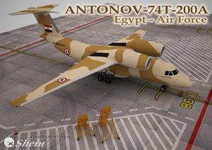 3d model antonov-74 egypt -