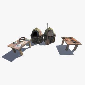 medieval oven 3d model