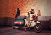 fbx 1970s mod scooter