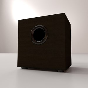 subwoofer woofer sub 3d 3ds