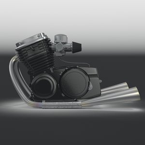 motorcycle engine 3d max