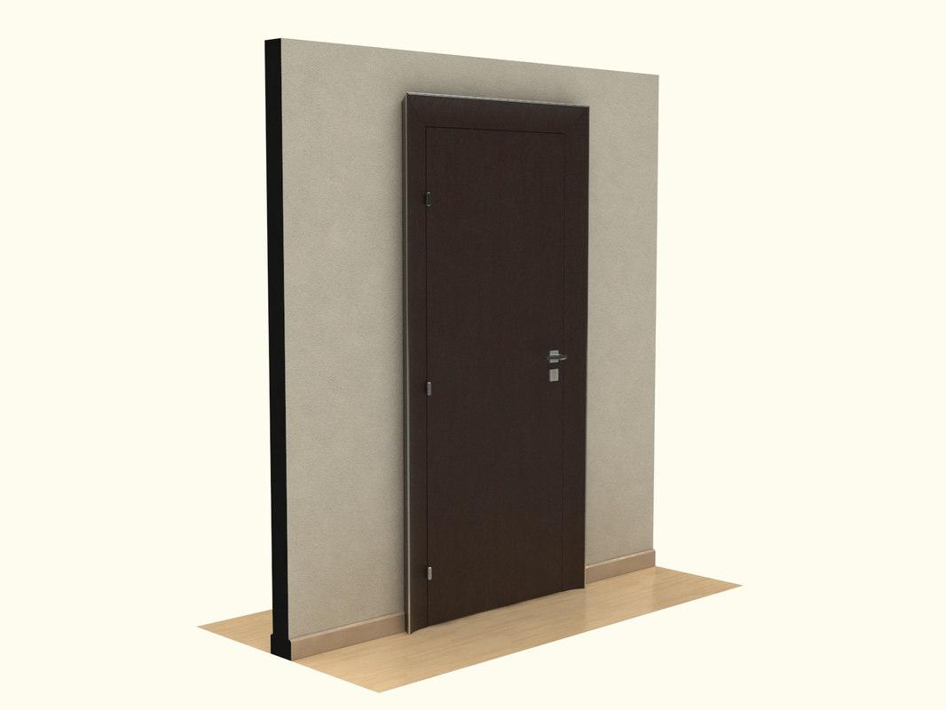 3d model wooden door