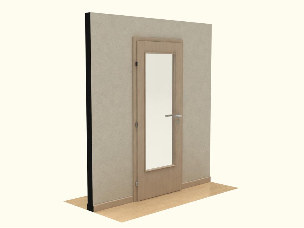 wooden door 3ds
