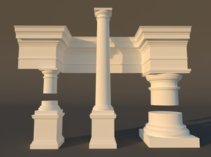 tuscan architectural 3d model