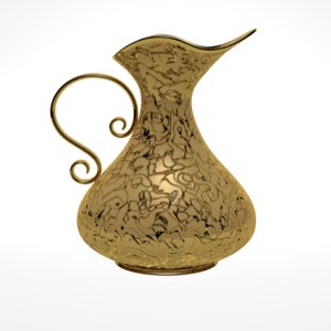 gold pitcher 3d model
