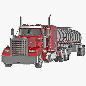 truck w900 tank trailer 3d max