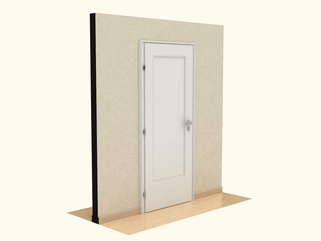 3dsmax wooden door