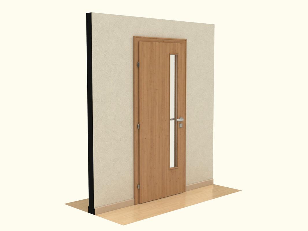 3ds max wooden door