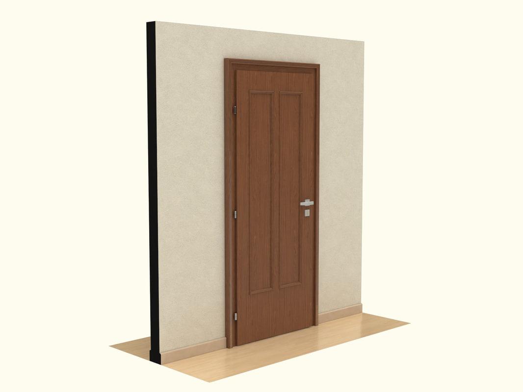 3d wooden door