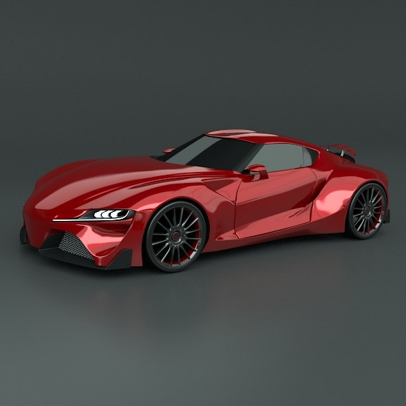 3d model toyota ft1 concept redesigned