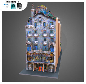 casa monument barcelona 3d model