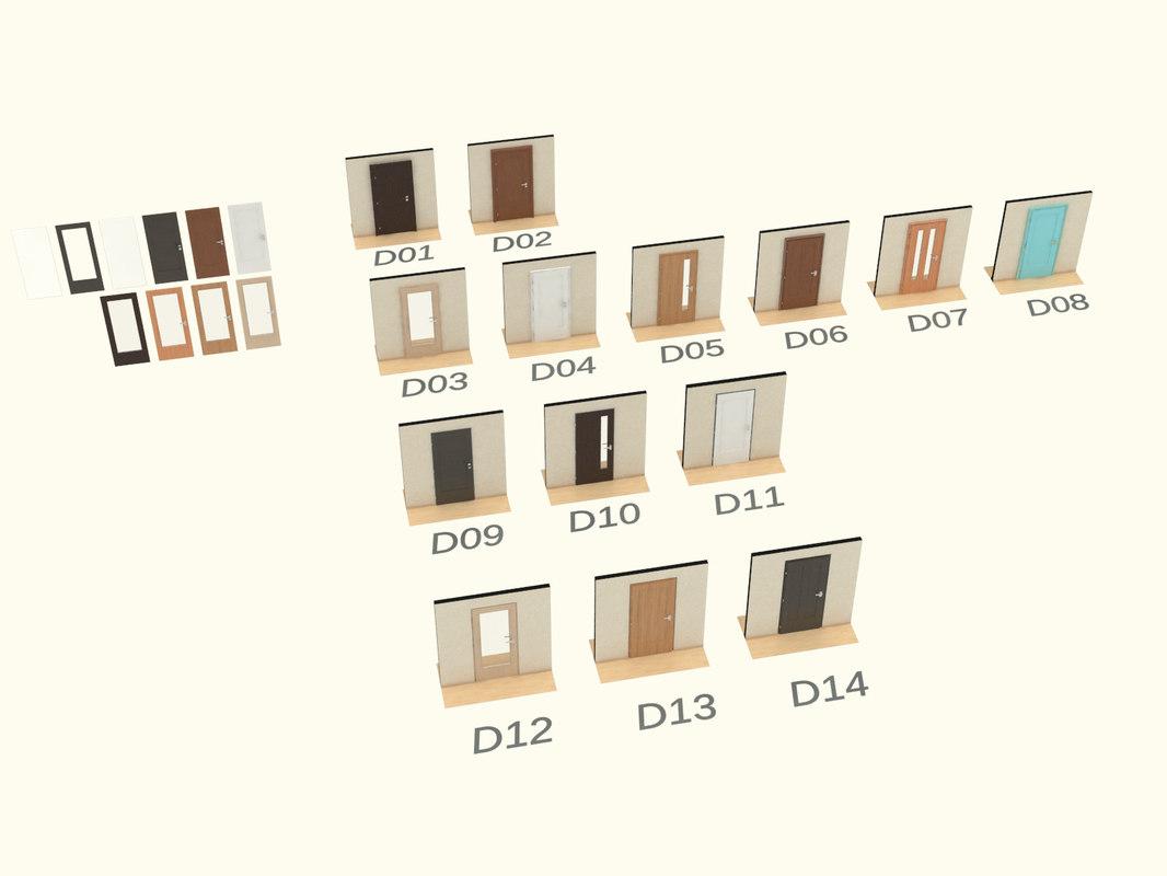 door handle settings 3d model