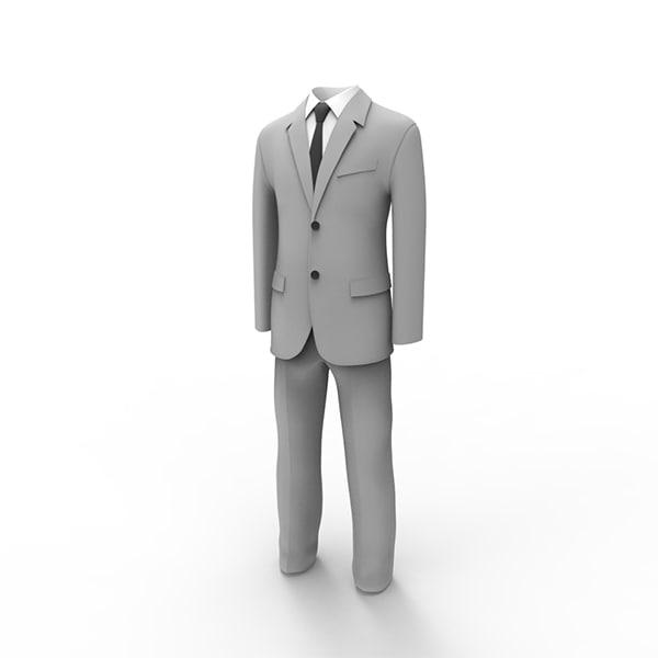 3ds max man suit