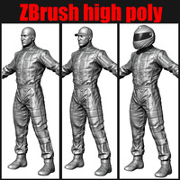 racing driver mechanic ZBrush