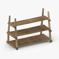 antique primitive shelves 3d 3ds