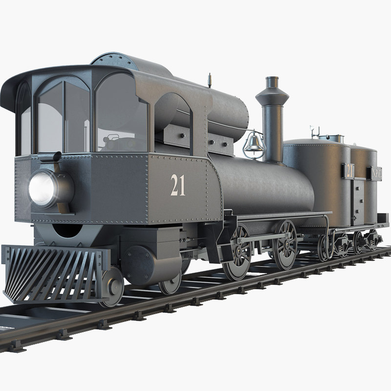 21 steam locomotive npc 3d 3ds