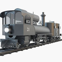 3d 21 steam locomotive engine model