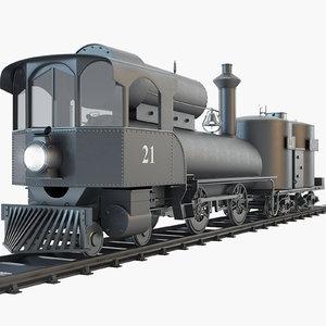 21 steam locomotive npc 3d 3ds