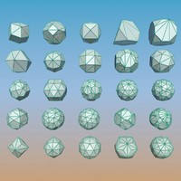 3d geometric shape pack model