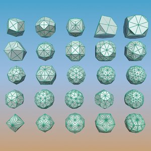 3d model geometric shape pack