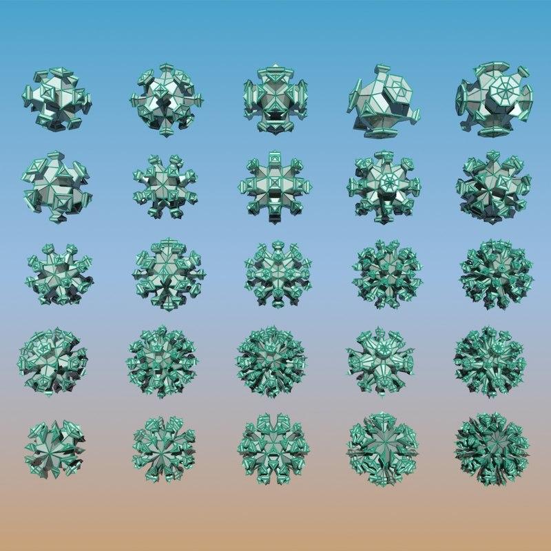 3d model geometric shape pack
