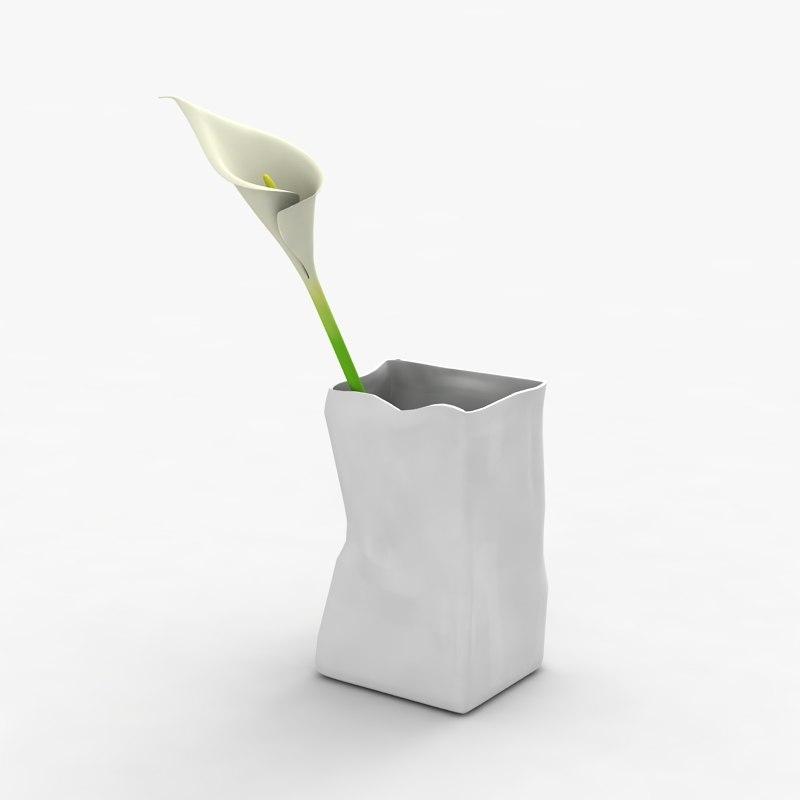modern vase flower max