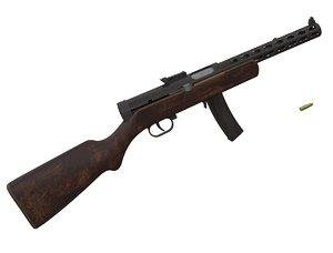 3d degtyarev ppd-34 complete model