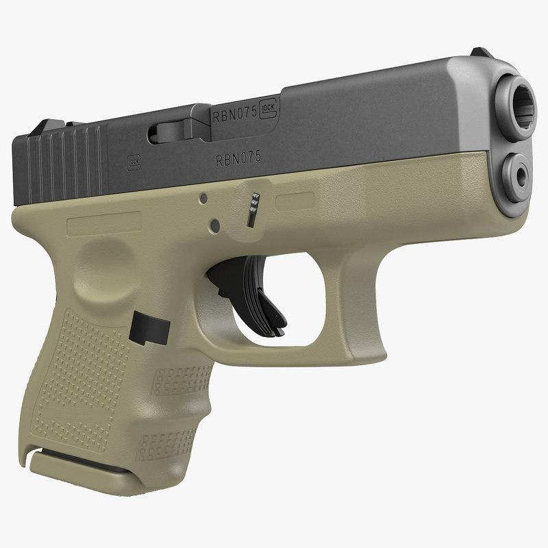 glock 26 3d c4d