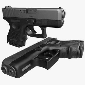 c4d glock 26 black
