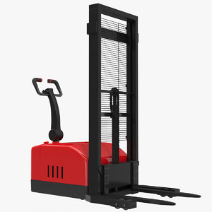 electric walkie stacker red 3d 3ds