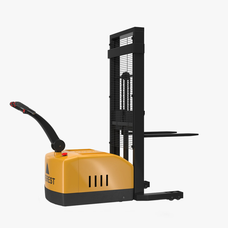 electric walkie stacker rigged 3d max