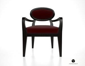 3ds max promemoria amina dining chair