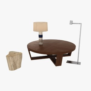 table lamp b italia 3d model