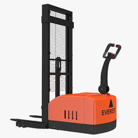 max electric walkie stacker orange