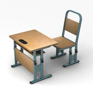 adjustable school desk 3ds
