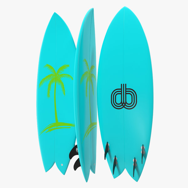 c4d surfboard fish 4