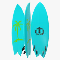 c4d surfboard fish 4