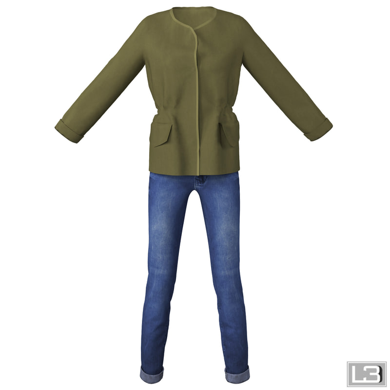 3d model woman clothes