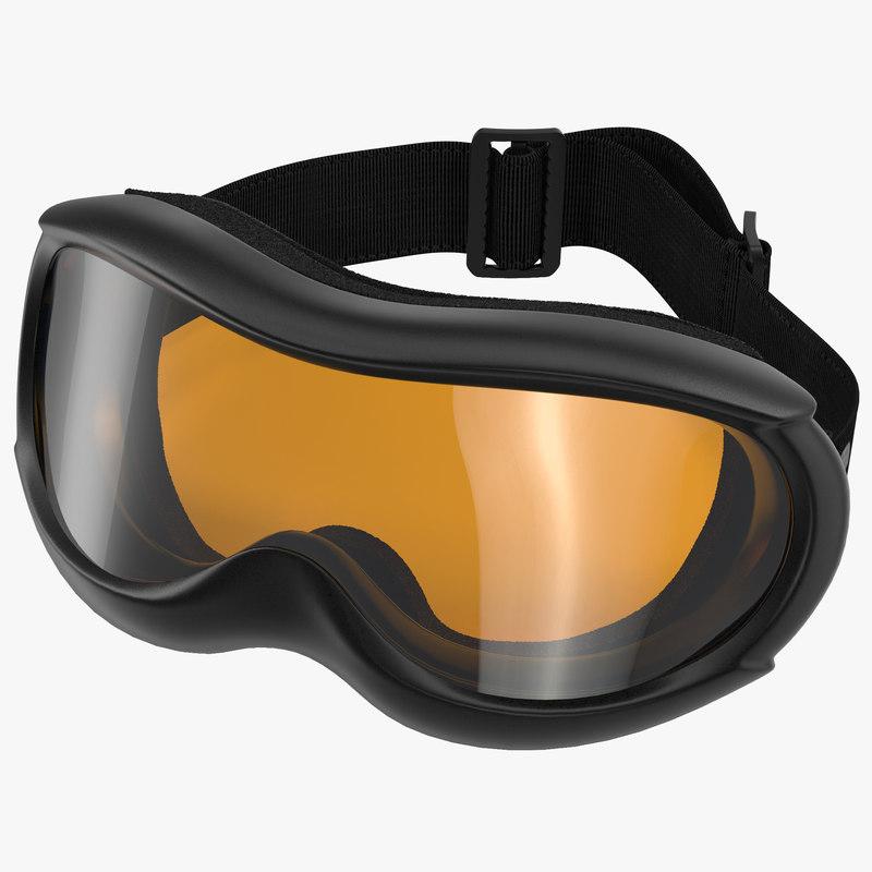 3d model ski glasses 2