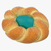 easter bread 3 3d model