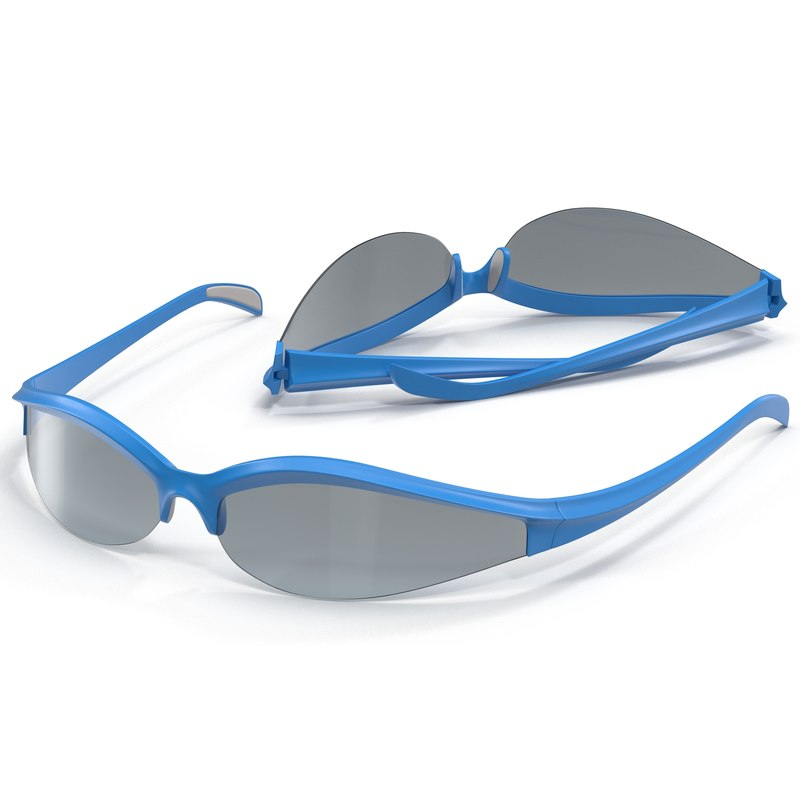 sport glasses 3 set 3d 3ds