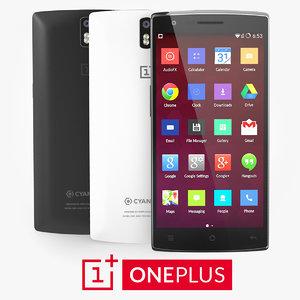 oneplus white black 3d model