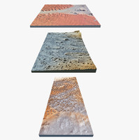 3d 3 dunes landscapes model