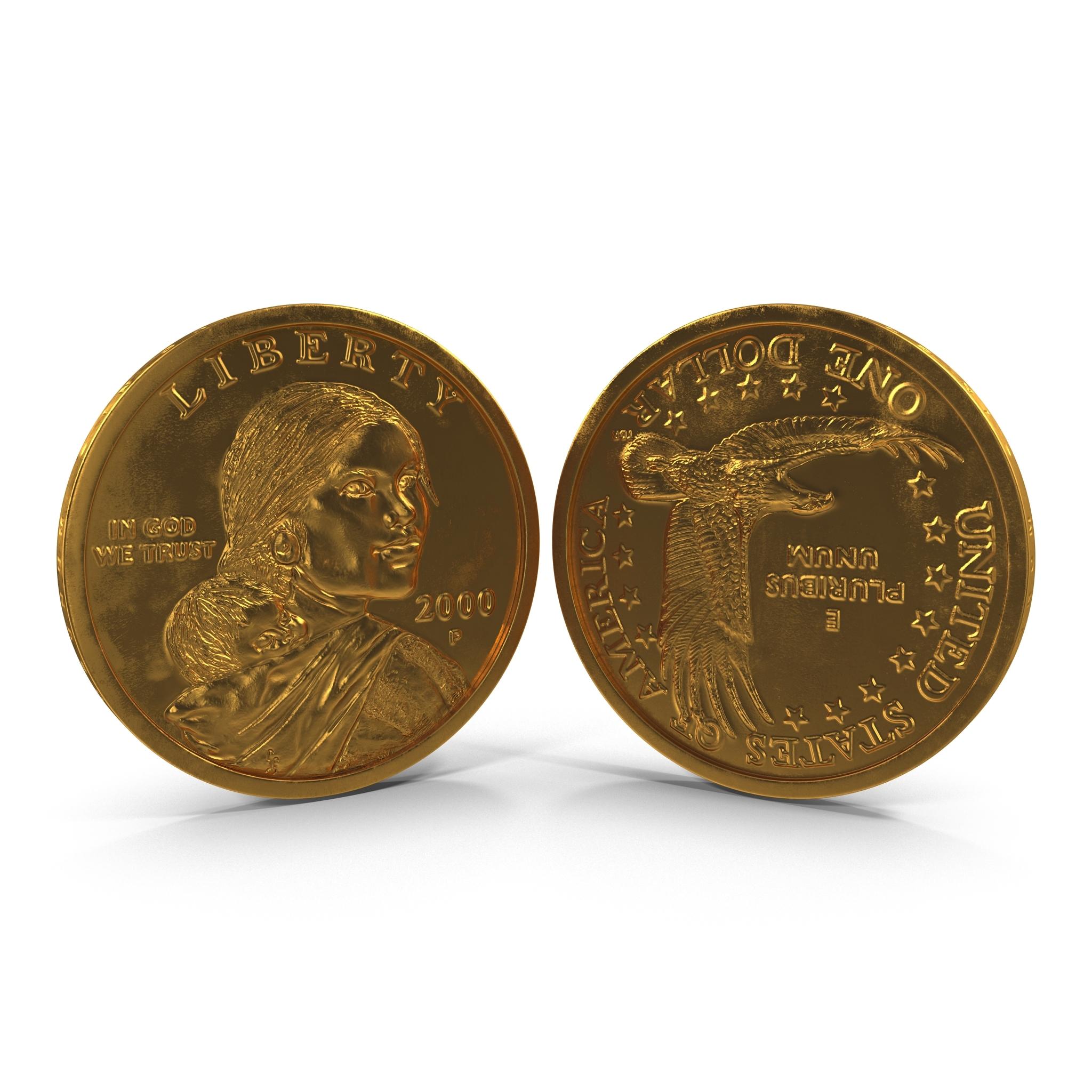 Sacagawea Dollar 3d Model