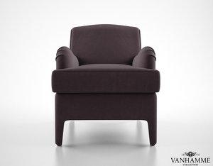 vanhamme channel armchair 3d max